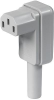 IEC Connector C13, Rewireable, Angled -- 4012 -Image