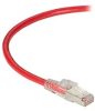 GigaTrue 3 CAT6A 650-MHz Ethernet Patch Cable - Shielded F/UTP, PVC, Slimline Lockable, Red, 3 ft. -- C6APC80S-RD-03