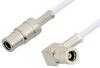 75 Ohm Mini SMB Plug to 75 Ohm Mini SMB Plug Right Angle Cable 60 Inch Length Using 75 Ohm RG187 Coax, RoHS -- PE34690LF-60 -Image
