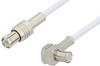 MCX Plug to MCX Plug Right Angle Cable 24 Inch Length Using RG196 Coax -- PE3311-24 -Image