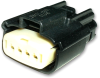 Molex 33471-0401 MX150 4-Pin Connector, Female, 22-14 AWG -- 38403 - Image