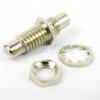 SMC Jack to SMC Jack Bulkhead Adapter, Nickel Plated Brass Body, 1.2 VSWR -- SM2014 - Image