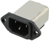 Power Entry Connectors - Inlets, Outlets, Modules - Filtered -- 6609001-6-ND