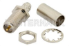 RP SMA Female Bulkhead Mount Connector Crimp/Solder Attachment for RG55, RG141, RG142, RG223, RG400, .235 inch D Hole -- PE4855 -- View Larger Image