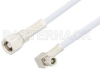 SMC Plug to SMC Plug Right Angle Cable 60 Inch Length Using RG188-DS Coax, RoHS -- PE34499LF-60 -Image