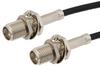 SMA Female Bulkhead to SMA Female Bulkhead Cable 60 Inch Length Using RG174 Coax -- PE33382-60