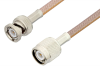 TNC Male to BNC Male Cable 72 Inch Length Using RG400 Coax -- PE33535-72 -Image