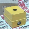 22.5MM PB ENCLOSURE, 1 HOLE, METAL (IP66, 4/13), BASE MNT., YELLOW -- 800E1MY - Image