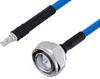 Plenum 7/16 DIN Male to QMA Female Low PIM Cable 48 Inch Length Using SPP-250-LLPL Coax , LF Solder -- PE3C5861-48 -Image