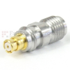 SMA Female (Jack) to SMP Female (Jack) Adapter, Passivated Stainless Steel Body, 1.25 VSWR -- SM8803 - Image