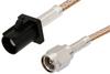 SMA Male to Black FAKRA Plug Cable 12 Inch Length Using RG316 Coax -- PE39343A-12 -Image