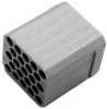 Male mult block for 23 pin modular connector system. -- CA-GB23M