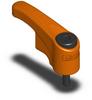 Adj Torque Handle - Male - Orange - M6 x 1 x 15 mm -- ATCL8X40-OG