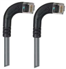 Category 5E Right Angle Patch Cable, RA Right Exit/RA Right Exit, Gray 10.0 ft -- TRD815RA14GRY-10 -Image