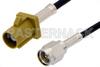 SMA Male to Curry FAKRA Plug Cable 48 Inch Length Using PE-C100-LSZH Coax -- PE39342K-48 -Image