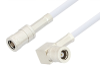 SMB Plug to SMB Plug Right Angle Cable 48 Inch Length Using RG188 Coax -- PE3592-48 -Image