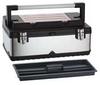 Portable Tool Box,23 In W,30 lb,Blk/Slvr -- 16W838