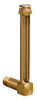 "Vented Long Elbow Brass Liquid Level Gage, 4 1/32"" Sight Opening, 1/2"" Diameter Glass, 3/8"" Male NPT Mounting Thread -- B1149-21 -Image"