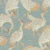 Asian Water Cover Birds Design Fabric -- R-Egrets - Image