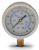 0-160 psi Liquid filled Pressure Gauge with 2.5 inch mechanical dial -- G25-SL160-4LB - Image