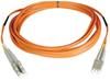 Duplex Multimode 50/125 Fiber Patch Cable (LC/LC), 20M (65-ft.) -- N520-20M
