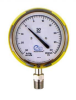 Pressure Gauge, front flange, bottom fitting w/Red case -- 25545-32B13