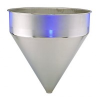 Stainless Steel Seamless Hopper Funnel, 25.7 Gal., 24