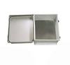 14x12x07 UL Listed Fiberglass Reinf Polyester FRP Weatherproof Outdoor IP66 NEMA 4 Enclosure, Kit bundled w/Aluminum Blank MNT PLT Gray -- TEF141207-KIT -Image