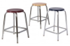 Quick Ship Fully Welded Chrome Round Frame Stools