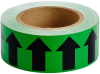 Brady B-946 Black on Green Directional Flow Arrow Tape - 2 in Width - 30 yd Length - 91416 -- 754476-91416 - Image