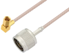 N Male to SSMC Plug Right Angle Cable 72 Inch Length Using RG316 Coax -- PE3C4416-72 -Image