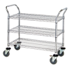 "48in x 18in x 38"" - 3 Shelf - Heavy-Duty Wire Cart -- WSC4818383"