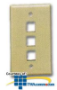 ICC Flush Mount 3-Outlet Modular Face Plates -- ICC-FACE3