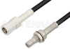 SMB Plug to SMB Jack Bulkhead Cable 72 Inch Length Using PE-B100 Coax -- PE34491-72 -Image