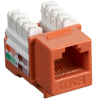 Black Box Connect CAT5e RJ-45 Keystone Jack - Unshielded, Orange -- CAT5EJ-OR