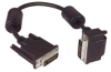 DVI-D Dual Link LSZH DVI Cable Male / Male Right Angle, Bottom 3.0 ft -- MDA00043-3F -Image