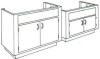 Standard Steel Laboratory Cabinet, Island End Sink Unit -- 20SI Series - Image