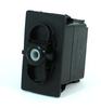 Carling Technologies VLD1S00B-00000-000 Unlit, DPDT,Momentary (On)-Off-(On),12V/20A Rocker Switch -- 44324 -Image