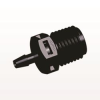 Straight Connector, Barbed, Black -- N8S431 -Image