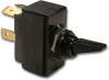 Carling 2GK01-D-2B-B/HDW ASSM Black Nylon Toggle Switch, 20A, DPST, On-Off -- 44204 - Image