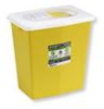 Trace Chemotherapy Disposable Sharps Container and Absorbent Pad, Yellow with White Sliding Lid -- 12613