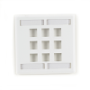 9-port White Double-Gang Keystone Wallplate -- WPT488 - Image