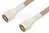 Mini UHF Male to Mini UHF Male Cable 60 Inch Length Using RG400 Coax, RoHS -- PE3269LF-60 -Image