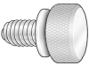 Thumb Screw,Knurled,10-32x1 L,Pk5 -- 1RA87
