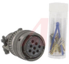 CONNECTOR,STRAIGHT PLUG W/CABLE CLAMP,CLASS F,SIZE 16,8 #16 CRIMP SOCKET CONTACT -- 70009908