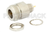 75 Ohm N Female Bulkhead Connector Solder Attachment Solder Cup Terminal, .380 inch Diameter -- PE4506 - Image