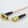 SMA Female to RA SMC Plug Cable RG316 Coax in 48 Inch -- FMC1328316-48 -Image