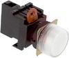 Switch,PILOT LIGHT,ROUND FLUSH, 24V AC/DC,WHITE -- 70180037
