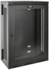 SmartRack 18U Low-Profile Patch-Depth Wall-Mount Rack Enclosure Cabinet with Clear Acrylic Window, Hinged Back -- SRW18US13G