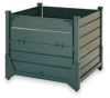 Bulk Container,L 48,W 45,H 42,Metal -- 2MVU5 - Image